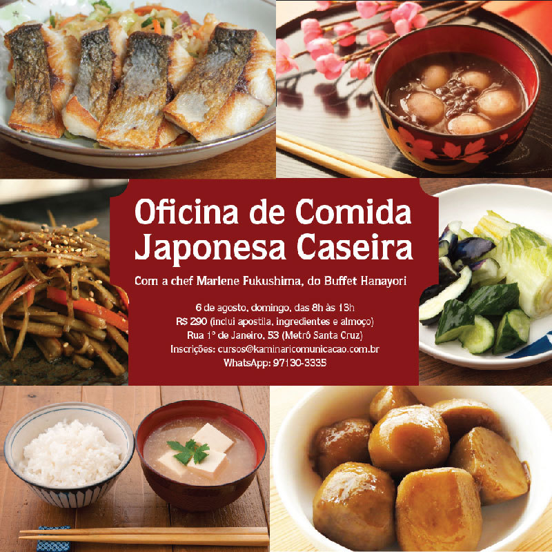 Oficina de culinária japonesa