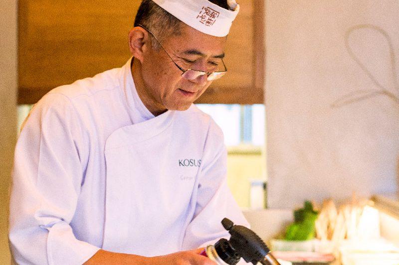 Perfil do chef George Koshoji