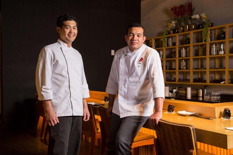 Chefs Jyun e Bié do Toro Sushi