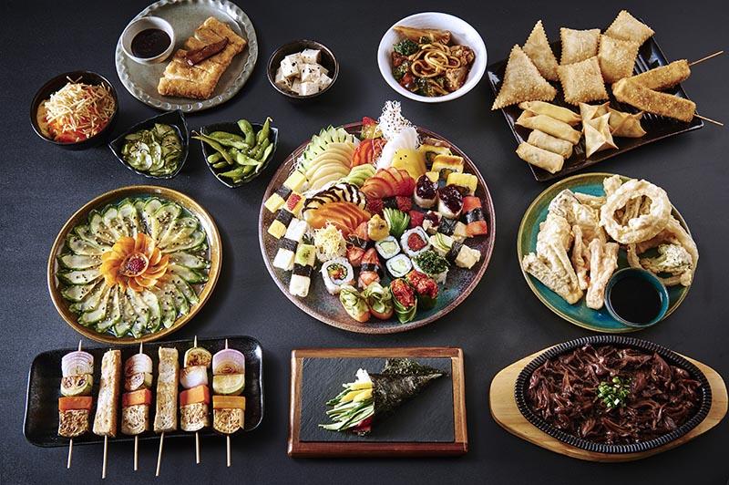 Rodízio japonês vegetariano do Djapa de Moema
