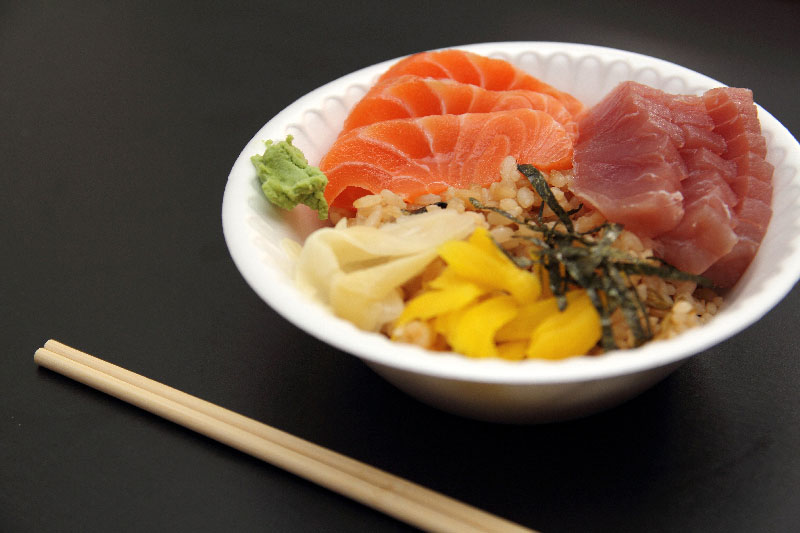Barazushi preparado pelo chef Marc Maeda