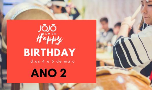 Comemorações de 2 anos do Jojo Ramen