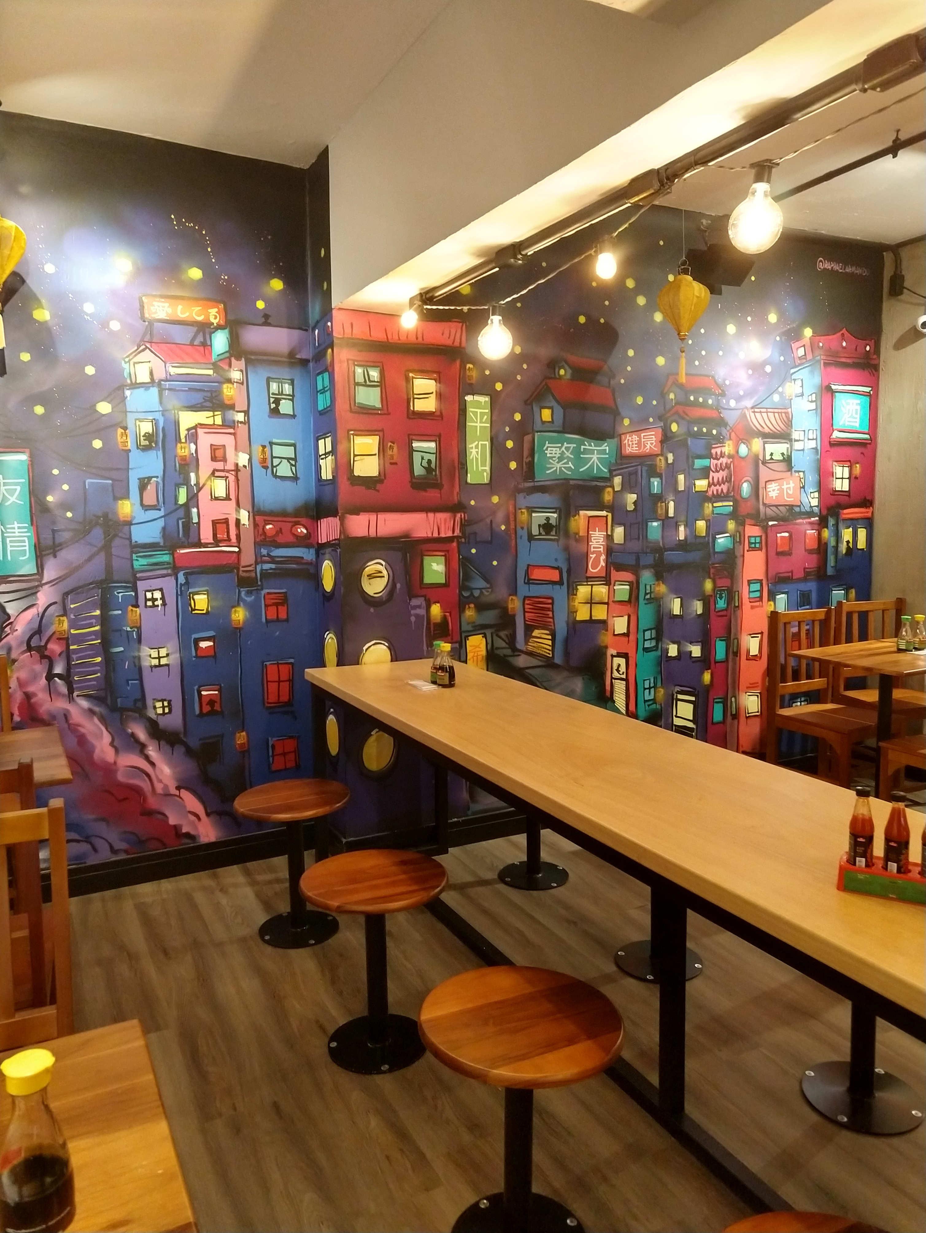 Arte de Raphael Armando - restaurante eat asia raphael armando