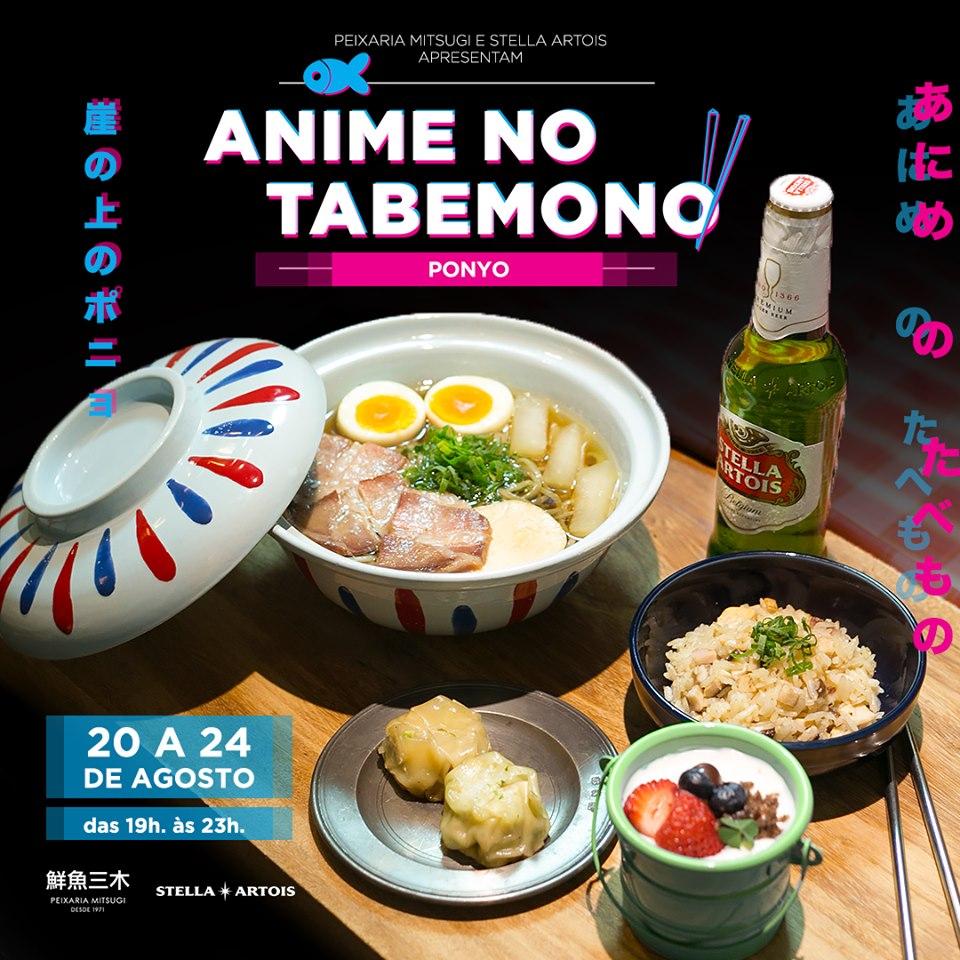 Menu completo em homenagem ao filme Ponyo - Anime no Tabemono
