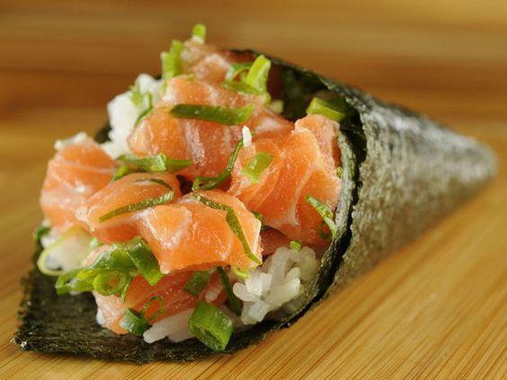 Receita de temaki de salmão