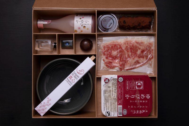caixa Magokoro sukiyaki do bem