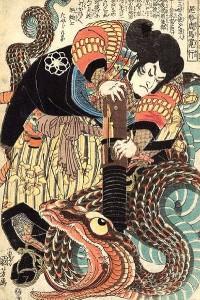 Representação de Jiraiya em ukiyo-e