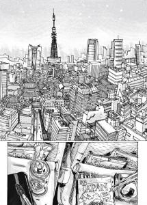 Cena do livro '9 Horas' na capital do Japão, onde tudo começa.