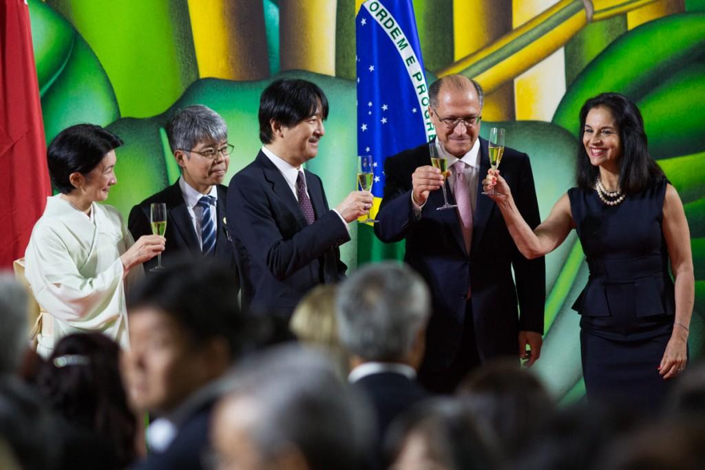 Solenidade de comemoração aos 120 anos de Amizade Brasil-Japão, no Palácio dos Bandeirantes