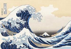 A Grande Onda, de Hokusai Katsushika