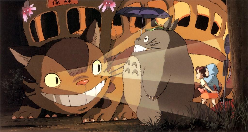 O ônibus animação meu Amigo Totoro, dos Studio Ghibli