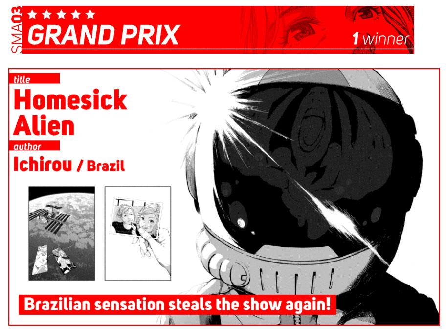 Ichirou ganhou o Grand Prix do SMA03. Clique na imagem para acessar a versão completa.