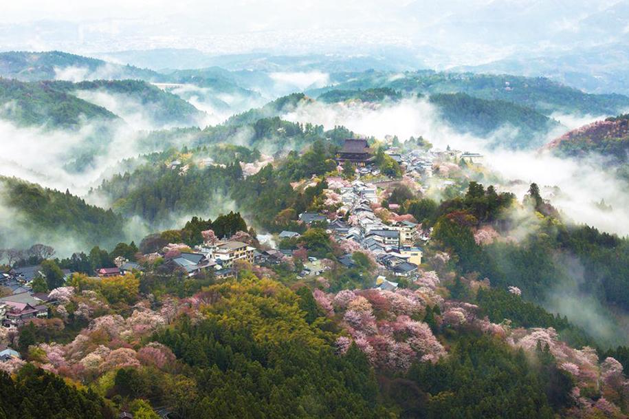 Foto de Yoshiki Fujiwara, do monte Yoshino, em Nara