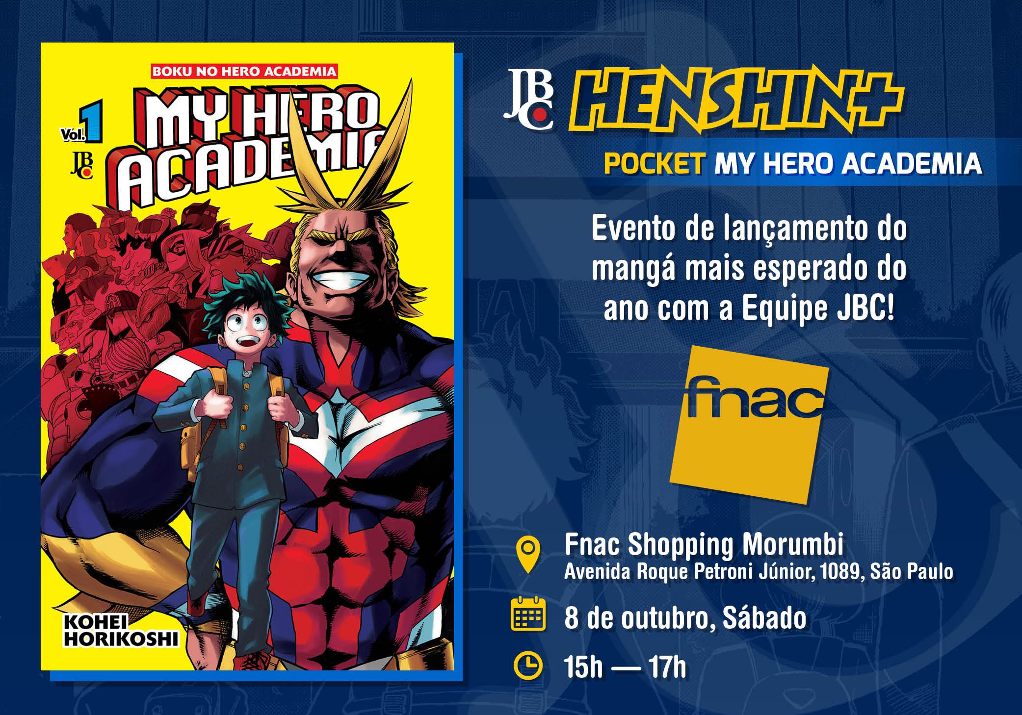 JBC Henshin+ Pocket MY HERO ACADEMIA, no dia 8 de outubro de 2016