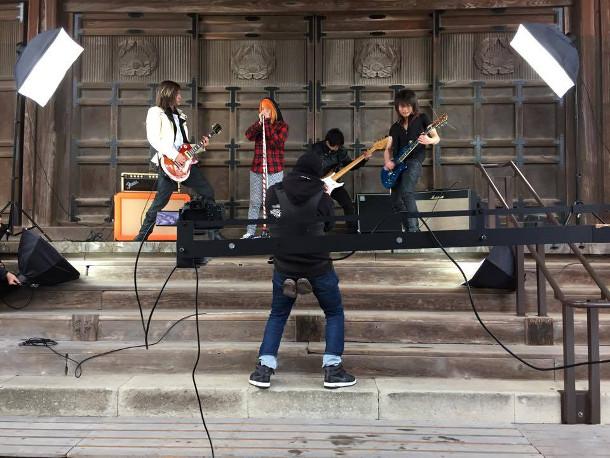 Durante as gravações em Tóquio