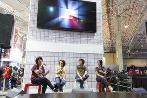 Erika Huang, Erika Jurdi, Denis Takata e Taki Okamura falam sobre a rotina na produção dos mangás