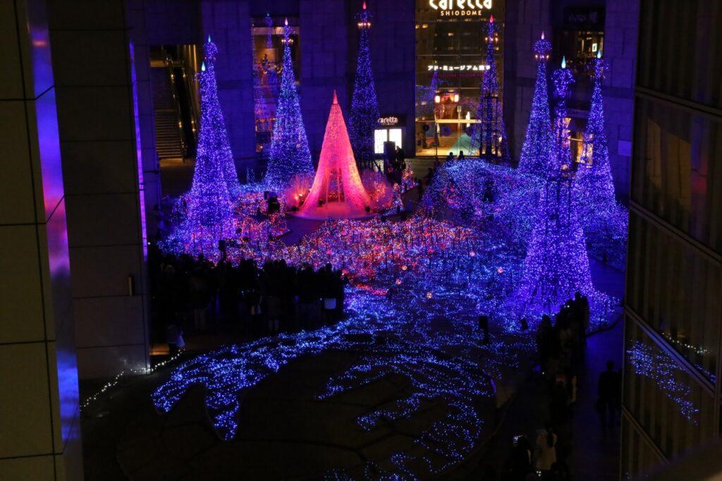 Iluminação em Shiodome Tóquio