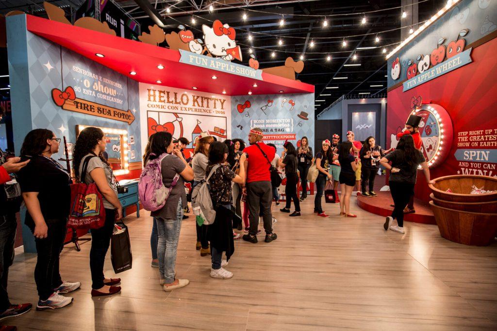 Estande da Hello Kitty na Comic Con Experience 2016
