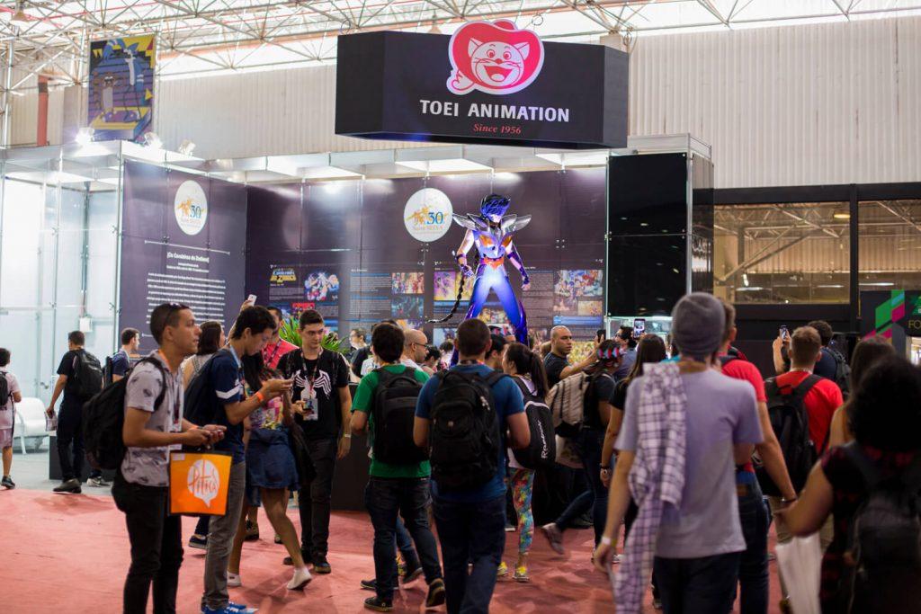 Estande da Toei Animation na CCXP 2016