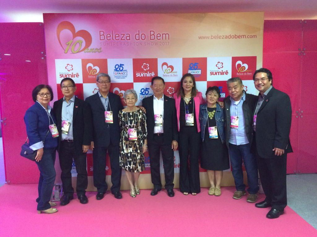 Paulo Yamauchi, Saburo Koga, Claudia Seguchi e Ricardo Seguchi, na abertura do 10º Beleza do Bem