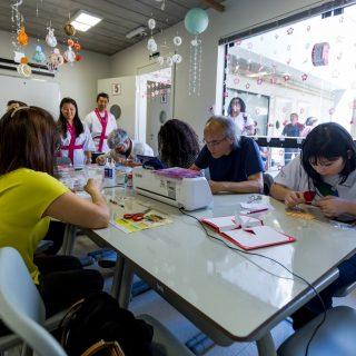 Aulas de artes no Centro Cultural Aliança, em Pinheiros