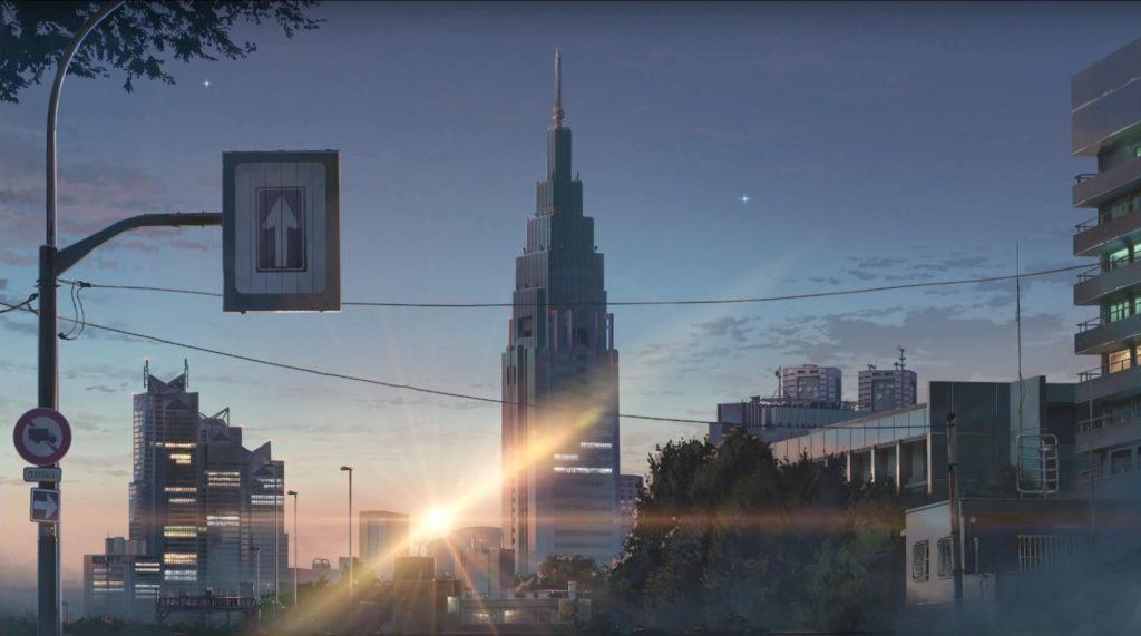 Prédio da NTT Docomo no filme Your Name