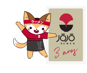 Anúncio Jojo Ramen 3 anos