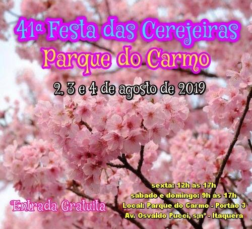 41ª Festa das Cerejeiras do Parque do Carmo 2019