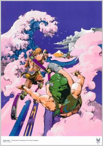 poster tokyo 2020 Hirohiko Araki The Sky above