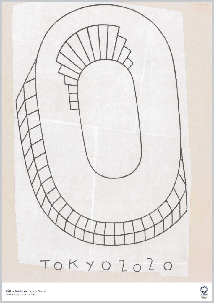 poster tokyo 2020 Philippe Weisbecker Olympic Stadium