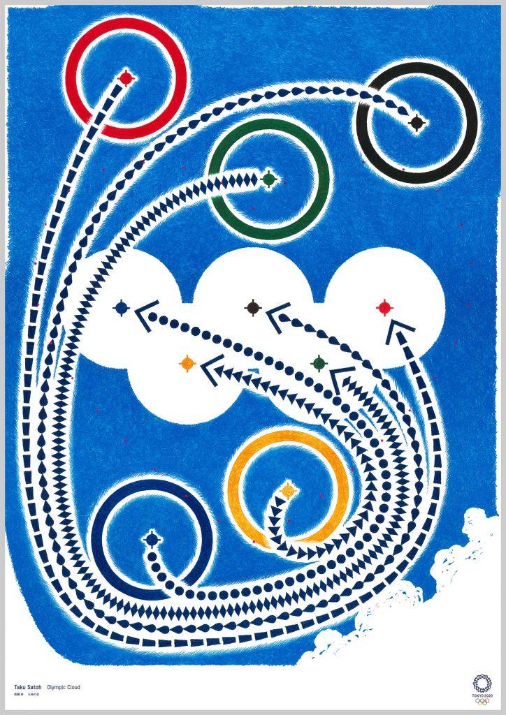 poster tokyo 2020 Taku Satoh Olympic Cloud