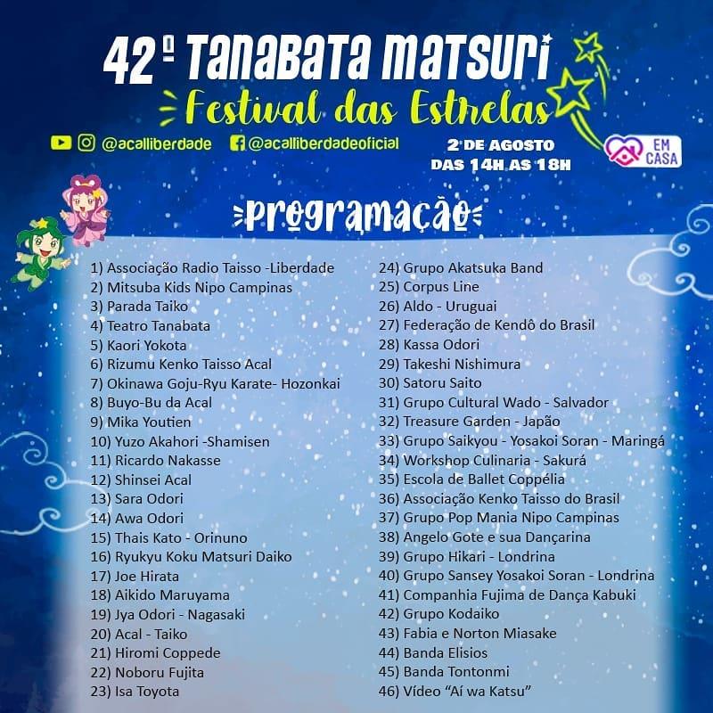 tanabata matsuri programacao online