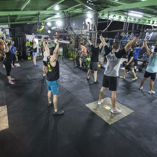 Dentro do box Crossfit Aldeia